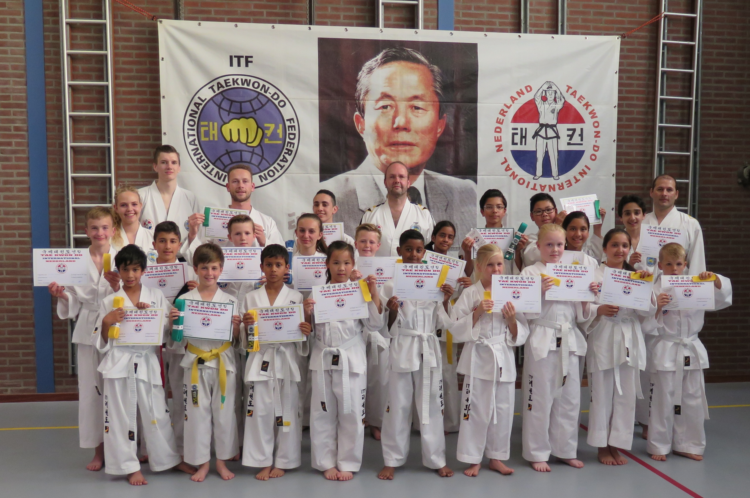aTaekwon-Do examens bij Taekwon-Do Vereniging Baukdu_